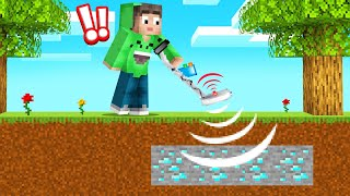 Finding DIAMONDS With A DETECTOR In MINECRAFT! (Cheat)