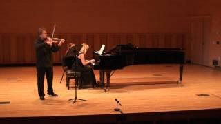 Alexander Abayev & Marina Rogozhina playing Brahms Scherzo (Sonatensatz) for Violin & Piano Thumbnail