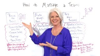 how to manage a team project management training
