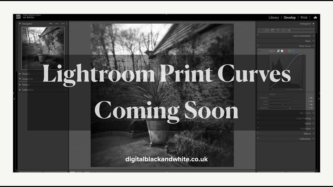 Lightroom Print Curves Video Series 1