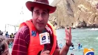 Scuba Diving in Karachi Coverage by Geo News organized by Scuba Club at Charna Island.