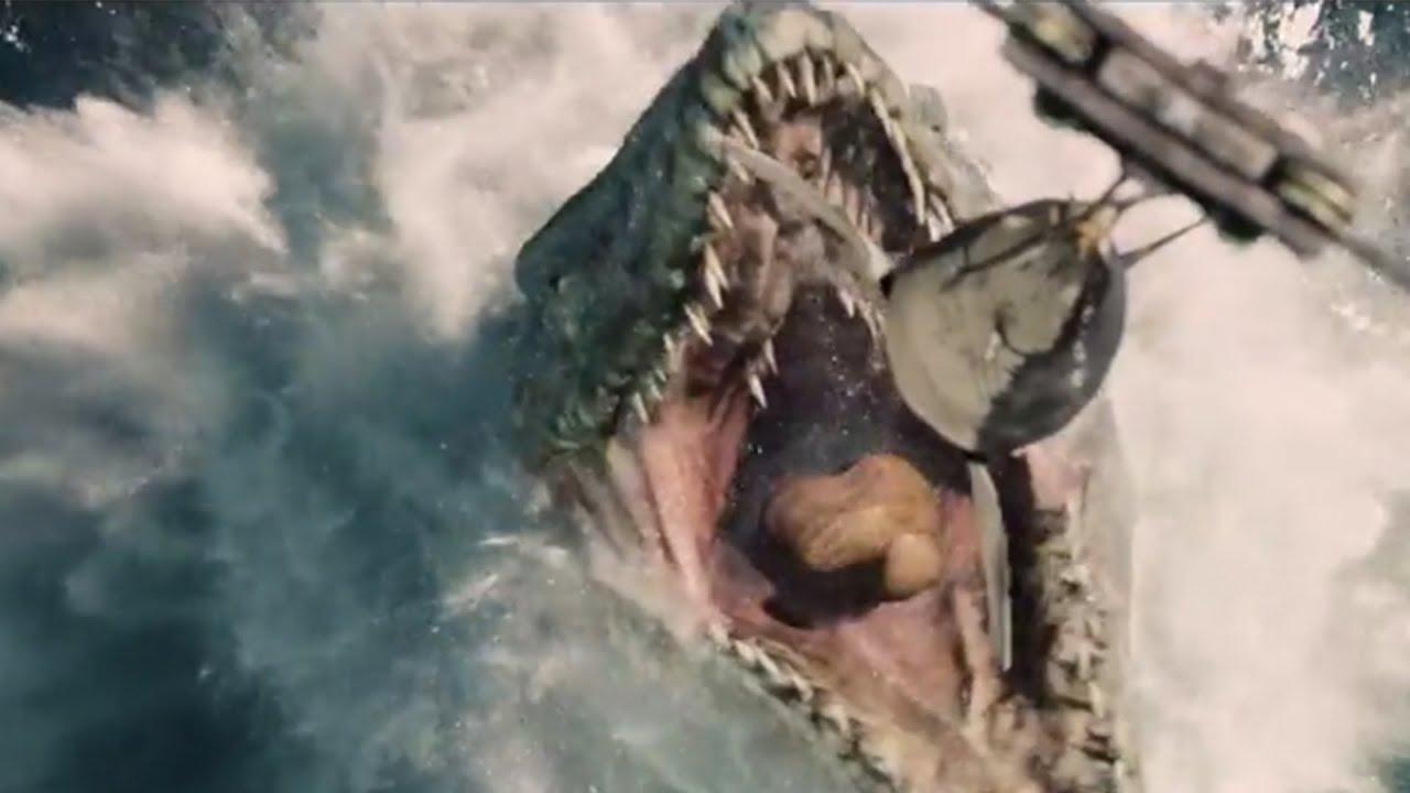 jurassic world trailer unveiled hybrid monster dinosaurs