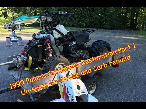 1999 Polaris Scrambler 400 4X4 Part 1 Rebuild Carb Cleaning Un Seize Diagnose