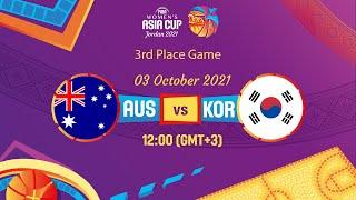 Australia v Korea   Full Game - FIBA Women's Asia Cup 2021 - Division A