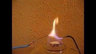 Ionizar un gas mediante la aplicación de calor