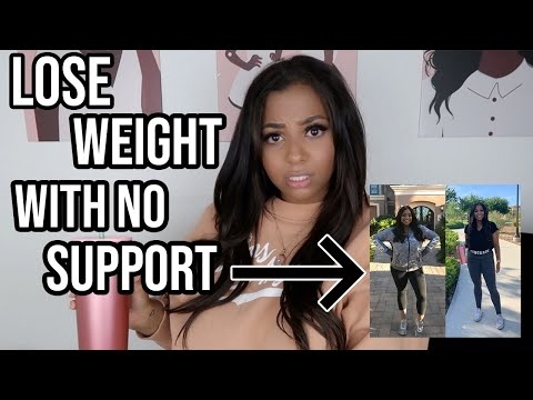 HOW TO LOSE WEIGHT WITH NO SUPPORT! | 2020 WEIGHT LOSS JOURNEY