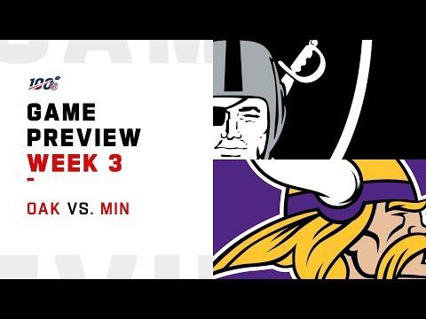 Oakland Raiders vs. Minnesota Vikings Week 3 NFL Game Preview
