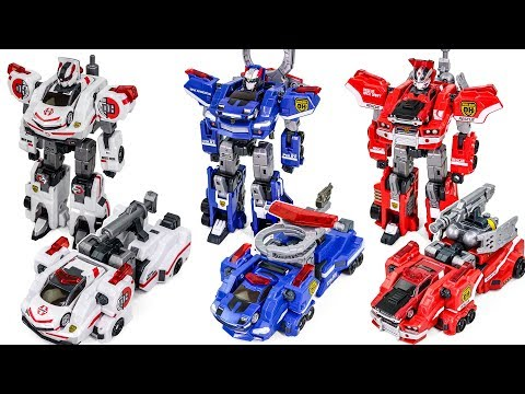 Tomica Hyper Rescue DRIVE DEAD Fire Rescue Ambulance Police Car Transformers Change Robot Toy