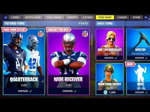 New NFL FOOTBALL SKINS in Fortnite.. - YouTube 8b4796bba