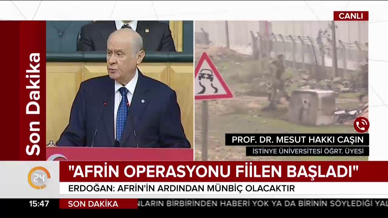 Milletinin yanında duran Devlet Bahçeli'den Afrin açıklaması