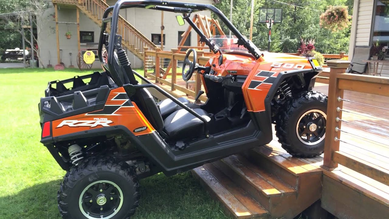 2013 nuclear orange polaris 800 le rzr razor for sale. Black Bedroom Furniture Sets. Home Design Ideas