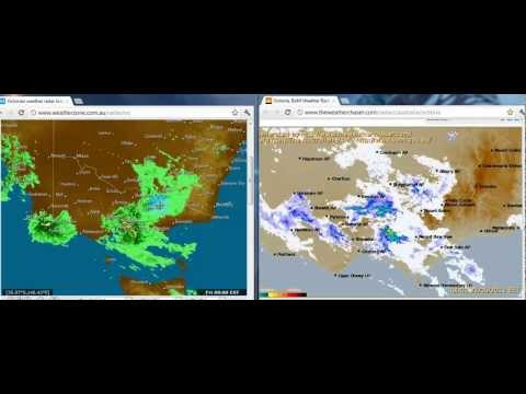 "Post Melbourne Earth Quake / Radar ""Interference"" Image - Dual Source"