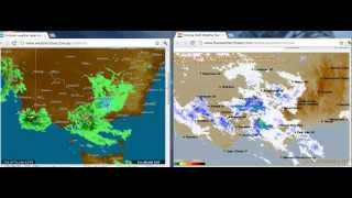 "Post Melbourne Earth Quake / Radar ""Interference"" Image - Dual Source Top 10 Video"