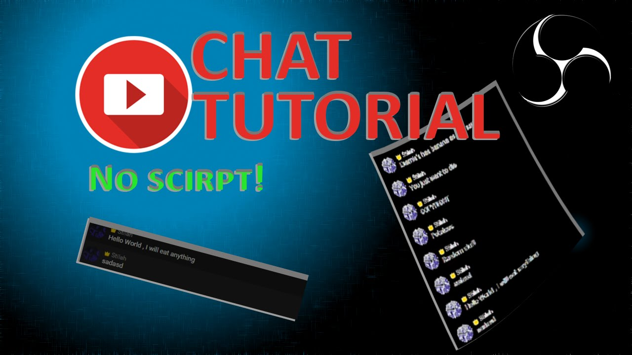 Youtube Chat Overlay Without BrowserSource or Scripts - OBS Streaming Guide