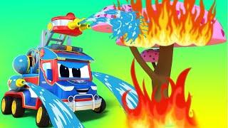 Truck videos for kids -  Saving the Cherry Blossom Festival - Super Truck in Car City !
