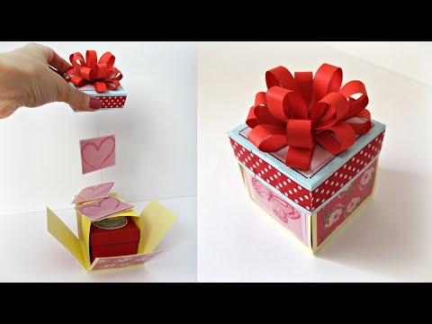 Explosion box tutorial | How to make explosion box for birthday | DIY gift box