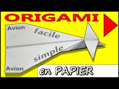 comment faire un avion en papier qui vole tr s bien et longtemps papier facile origami avion. Black Bedroom Furniture Sets. Home Design Ideas