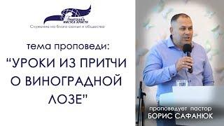 Уроки из притчи о виноградной лозе. Борис Сафанюк. 12/08/18
