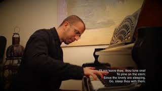 The Last Rose of Summer - Piano (lyrics on screen)