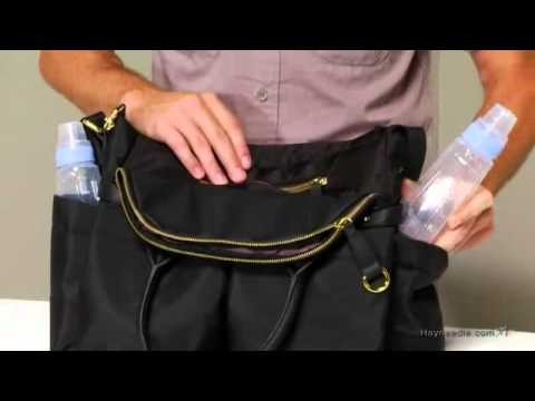 Skip Hop Chelsea Classically Chic Diaper Satchel - Black - Product Review Video