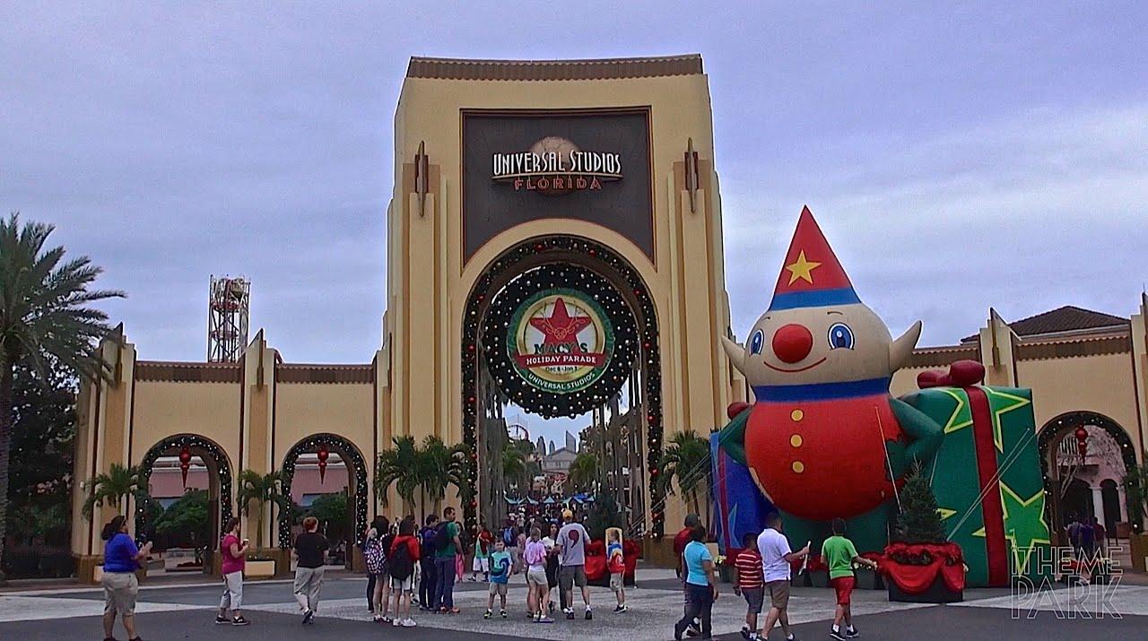 Universal Studios Christmas.Universal Studios 2014 Christmas And Holiday Decorations Universal Orlando Resort