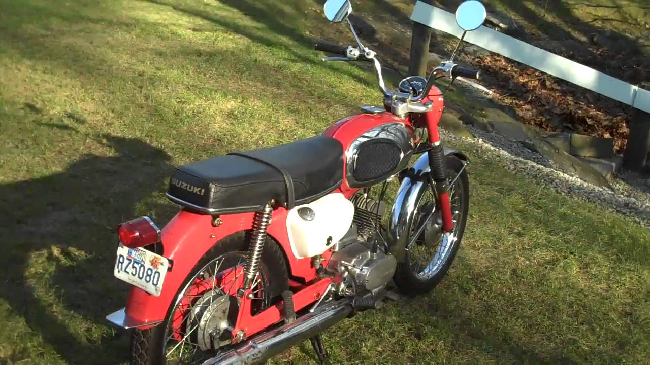 suzuki b100p 1966 out of the barn part 2. - youtube