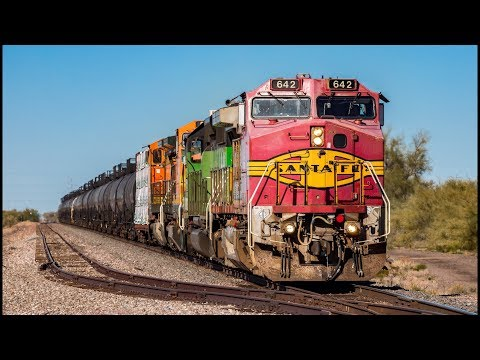 [HD] Trains on the UP & BNSF Phoenix Subs Winter 2018