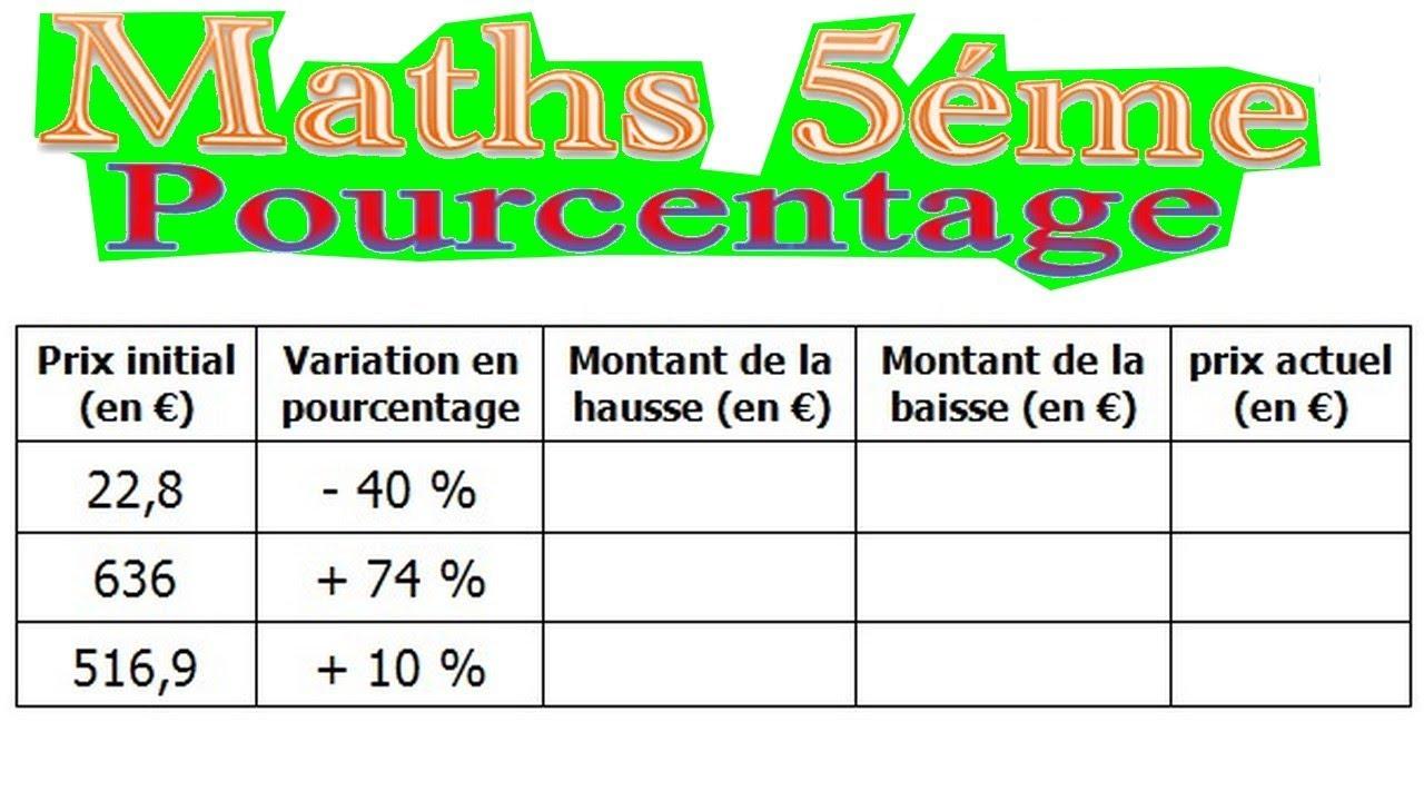 Maths 5eme Le Pourcentage Exercice 4 Youtube