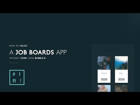 How to create a Job boards app using Bubble.is