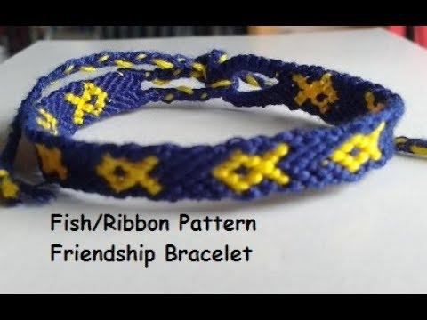 How To Make A Fish/Ribbon Pattern Friendship Bracelet Tutorial