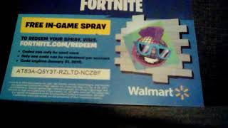 Wal-Mart spray giveaway fortnite (used by fan)
