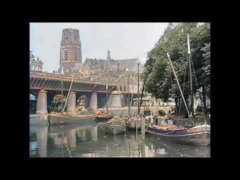 Nog Meer Prachtige Beelden Van Rotterdam En De Havens Rond 1915 In Kleur! Rotterdam In 1915 (color!)
