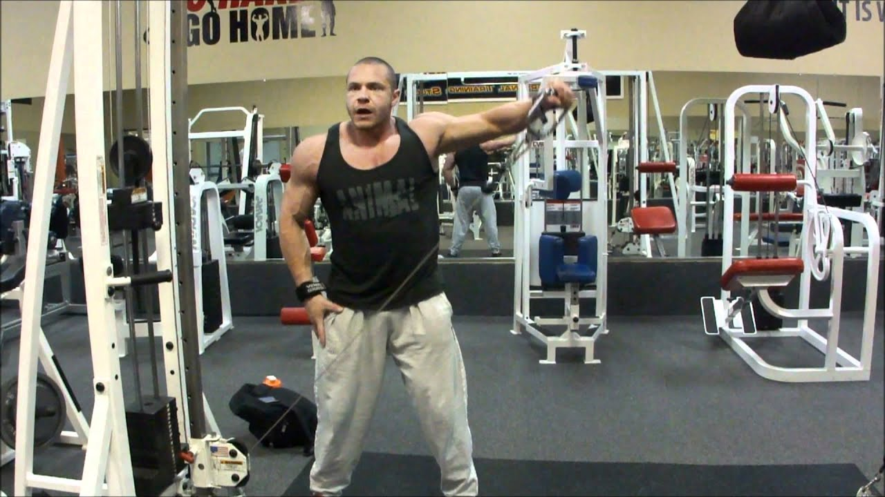 cable onearm lateral raise exercise t