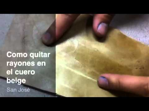 Limpieza de cuero blanco doovi - Como limpiar cuero ...