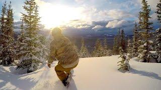 GoPro Snowboarding   Exploring the Backcountry (4K)