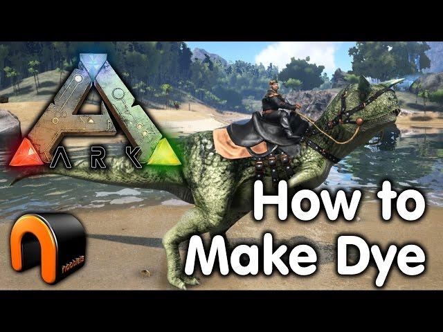 Ark Survival Evolved - How to Make Dye
