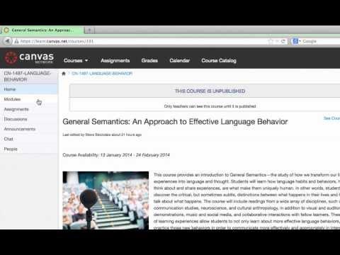 General Semantics Course Tour