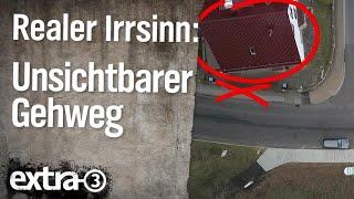 Realer Irrsinn: Unsichtbarer Gehweg in Bad Sooden