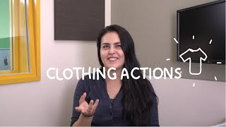 Weekly Mexican Spanish Words with Alex - Clothing Actions