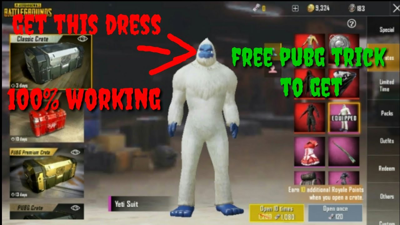 How To Get Yeti Set In Pubg Mobile 100 Working Reaper Pubg