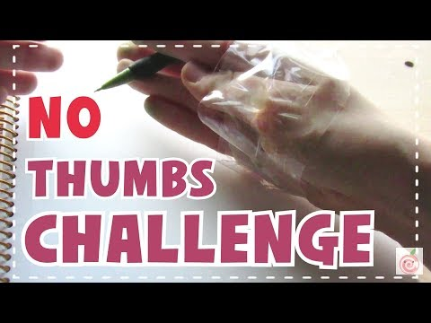 ☆ NO THUMBS CHALLENGE    Drawing Without My Thumbs! ☆
