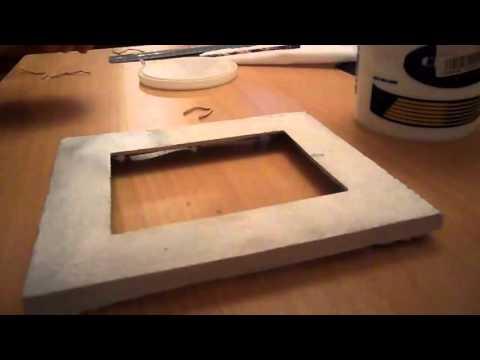 рамка для фото из гипса