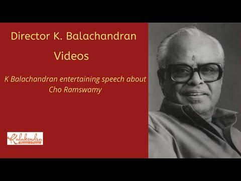 Director K Balachander talks about Cho  Crazy Mohan  Actor Siva Kumar