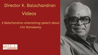 Repeat youtube video Director K Balachander talks about Cho | Crazy Mohan | Actor Siva Kumar