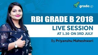 Live Session on RBI Grade B Notification 2018