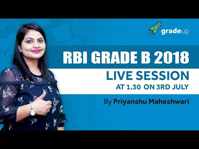 RBI Garde B 2018 Official Notification Out
