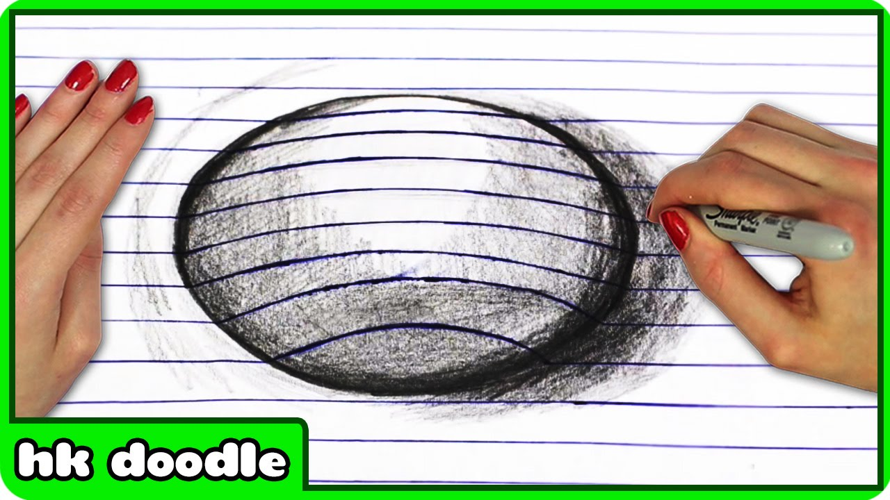 How To Draw an Amazing 3D Optical Illusion - Easy Step by ...