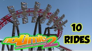 NoLimits 2 Roller Coaster Simulation - 10 Rides Gameplay HD