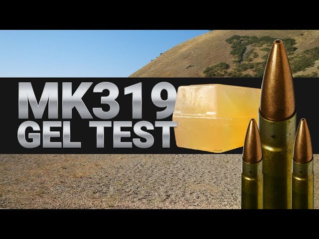 MK319 Reduced Velocity Gel Test - How does it compare to the Army's M80A1?