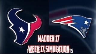 Madden 17 | AFC Divisional Game Sim - Houston Texans vs New England Patriots #texans #patriots
